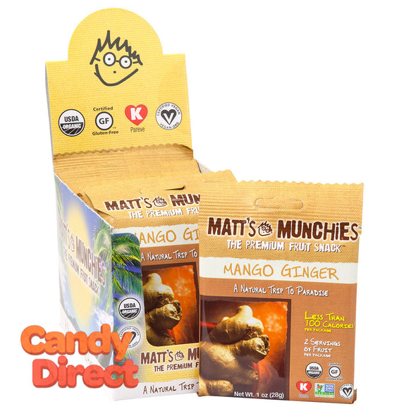 Matt's Mango Ginger Munchies 1oz - 12ct