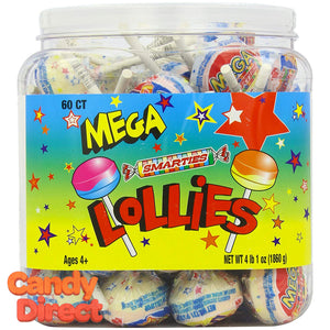 Mega Lollies Smarties Pops - 60ct