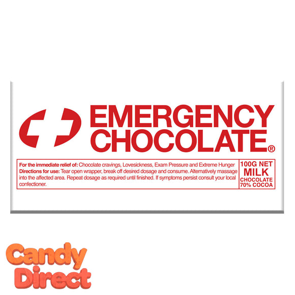 Milk Chocolate Emergency Bars - 10ct