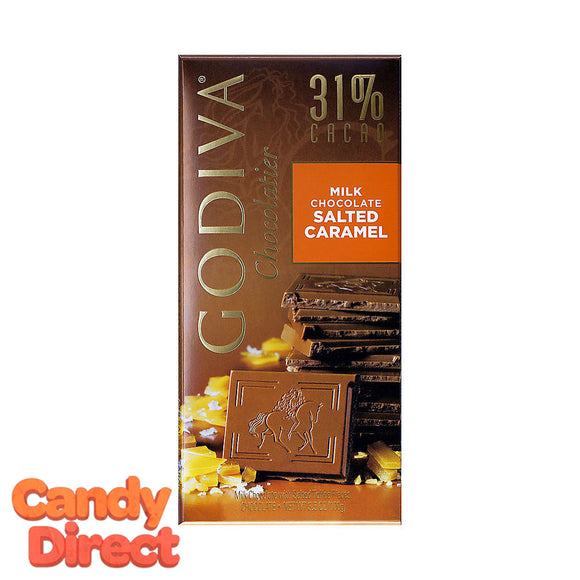 Milk Chocolate Sea Salt Caramel Godiva Tablet Bars - 10ct