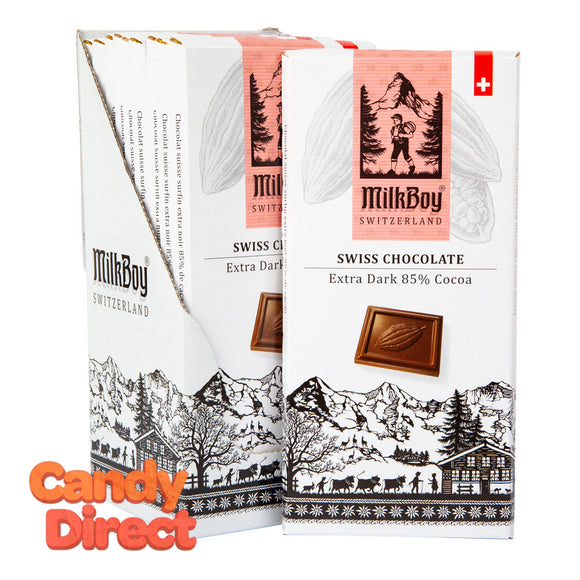 Milkboy Chocolate 85% Extra Dark 3.5oz Bar - 10ct