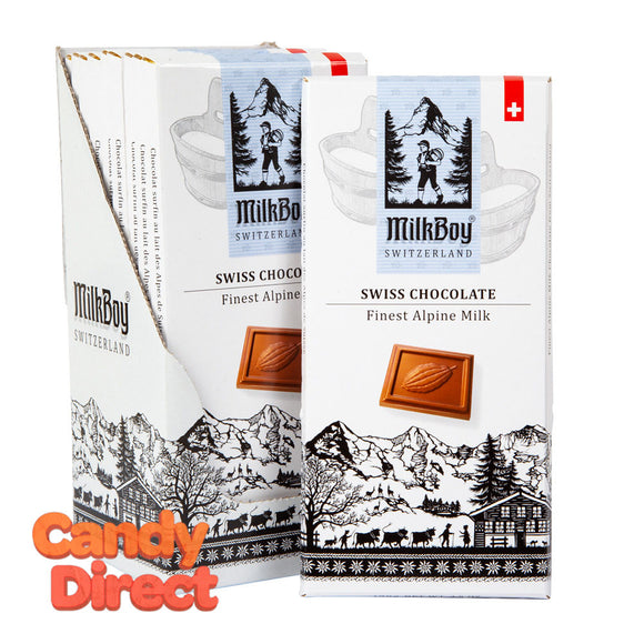 Milkboy Milk Chocolate Swiss Alpine 3.5oz Bar - 10ct