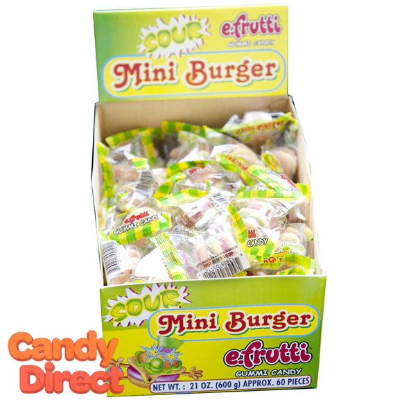 Mini Sour Gummi Burgers - 60ct