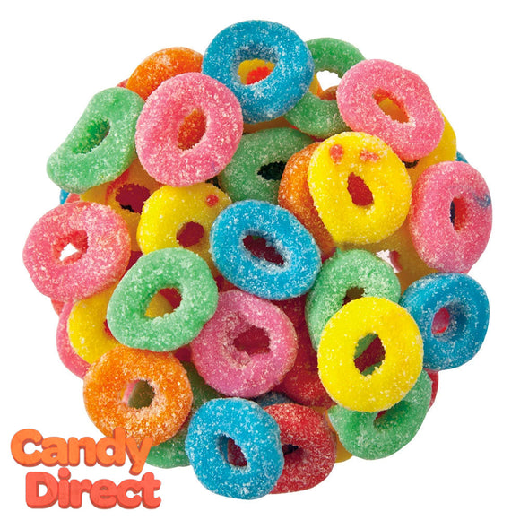 Mini Sour Gummy Rings Assorted - 5lb Bulk