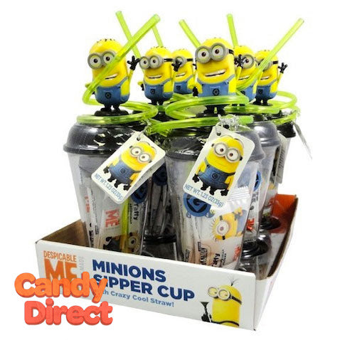 Minions Sipper Cups with Taffy - 6ct