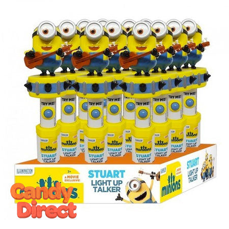 Minions Talker Candy Dispensers Stuart - 12ct