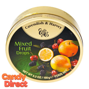 Mixed Fruit Cavendish & Harvey Drops - 12ct Tins