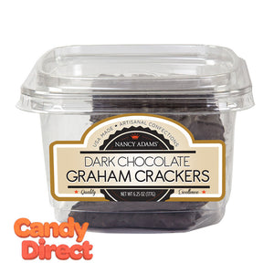 Nancy Adams Dark Chocolate Graham Crackers 6.25oz Tub - 6ct