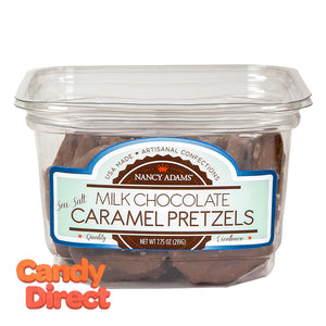 Nancy Adams Milk Chocolate Caramel Pretzels 7.75oz Tub - 12ct