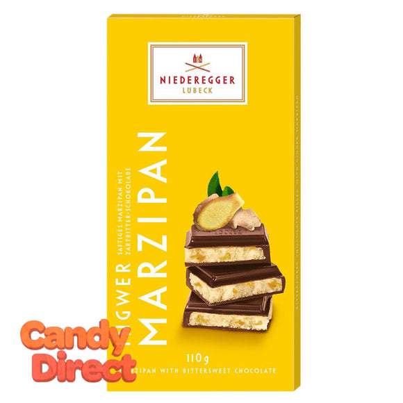Niederegger Ginger Marzipan Classic 3.88oz Bar - 10ct