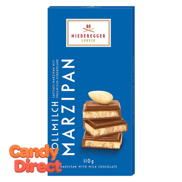 Niederegger Milk Chocolate Marzipan Classic 3.88oz Bar - 10ct