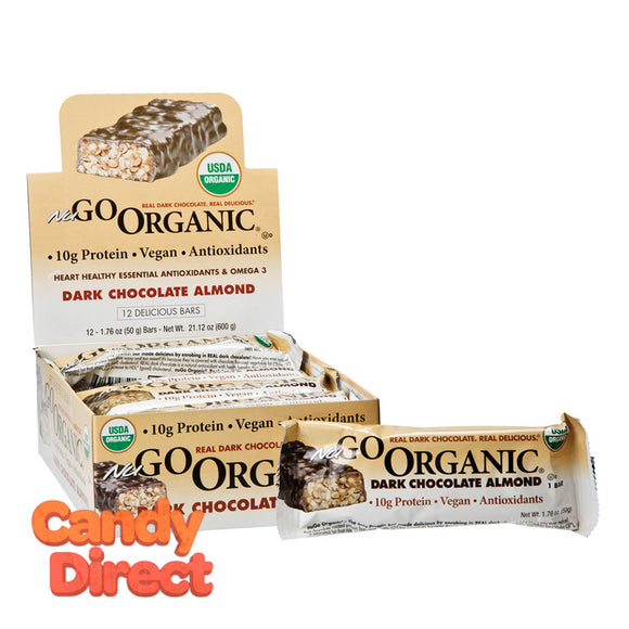 Nugo Protein Bar Organic Dark Chocolate Almond 1.76oz - 12ct