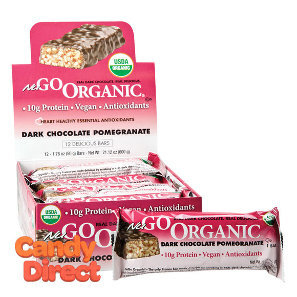 Nugo Protein Bar Organic Dark Chocolate Pomegranate 1.76oz - 12ct