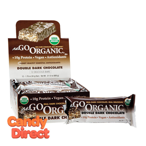 Nugo Protein Bar Organic Double Dark Chocolate 1.76oz - 12ct