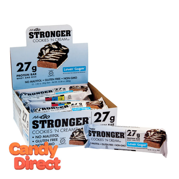 Nugo Protein Bar Stronger Cookies 'N Cream 2.82oz - 12ct