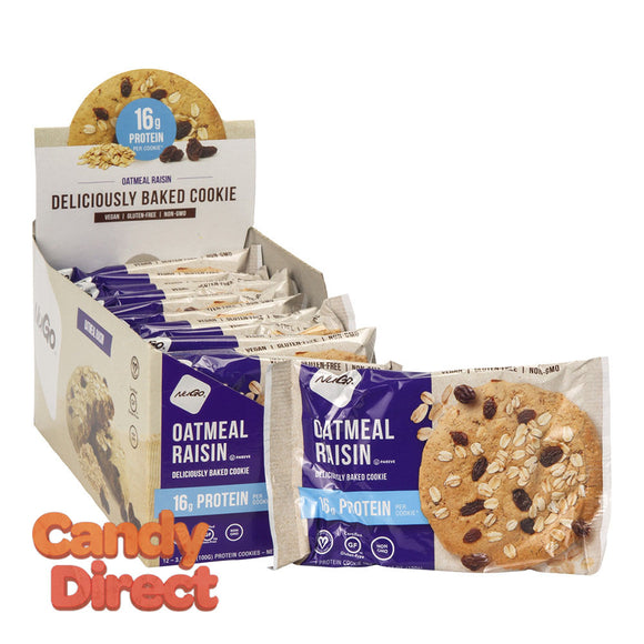 Nugo Protein Cookie Oatmeal Raisin 3.53oz - 12ct