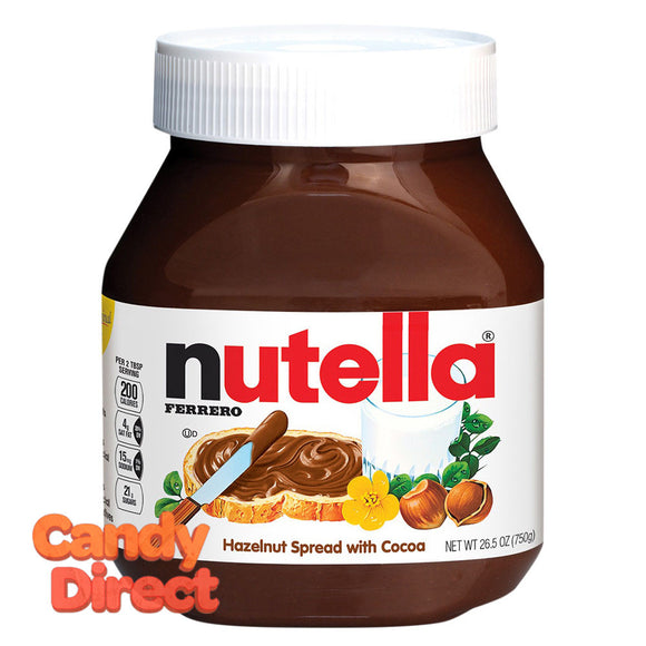 Nutella Hazelnut Spread Chocolate 26.5oz Jar - 12ct