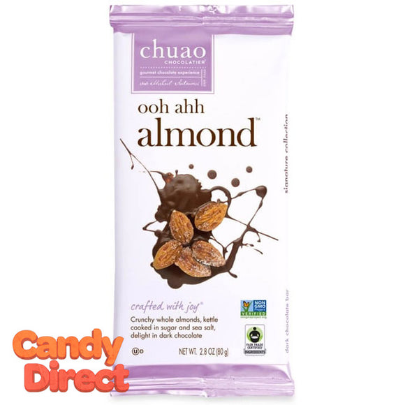 Ooh Ahh! Almond Chuao Dark Chocolate Bars - 10ct