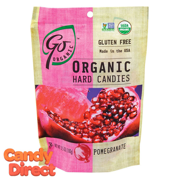 Organic Pomegranate Hard Candy GoOrganic - 6ct
