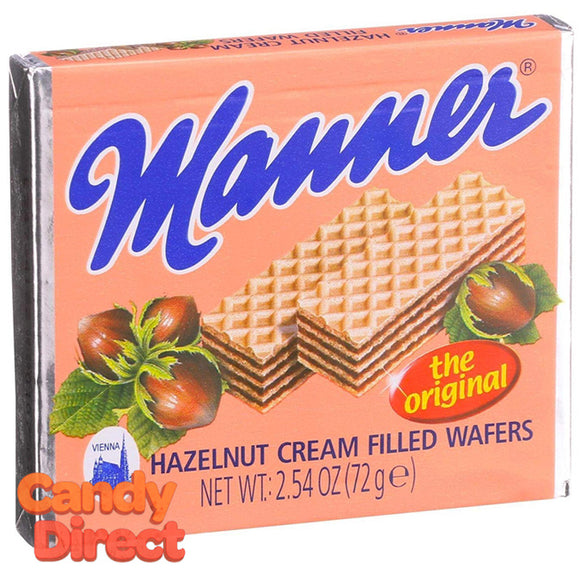 Original Manner Hazelnut Neapolitan Wafers - 12ct