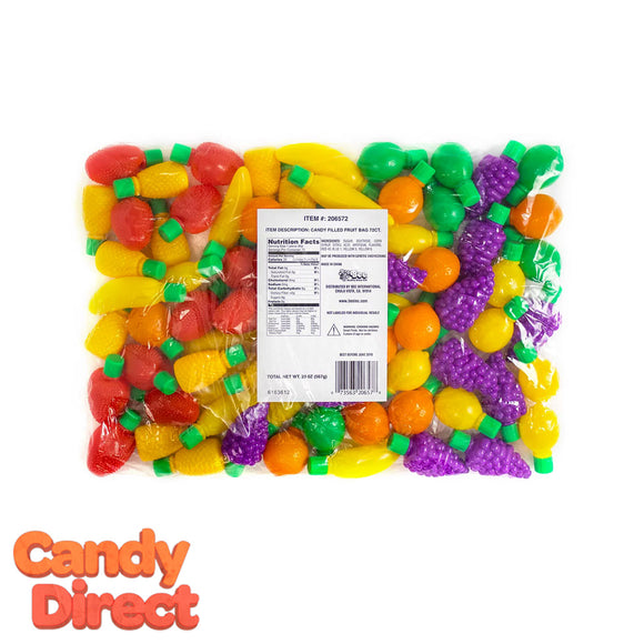 Plastic Fruit Filled With Candy - 72ct