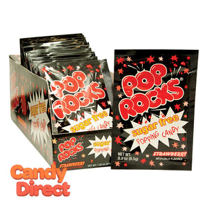 Sugar Free Pop Rocks Strawberry - 18ct