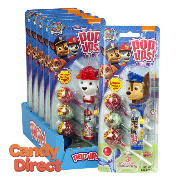 Pop Ups Lollipop Paw Patrol 1.26oz Blister Pack - 6ct