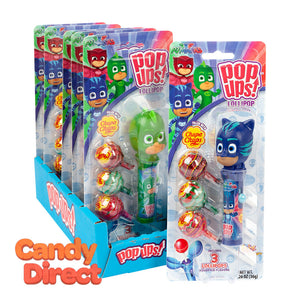 Pop Ups Lollipops Pj Masks 1.26oz Blister Pack - 6ct