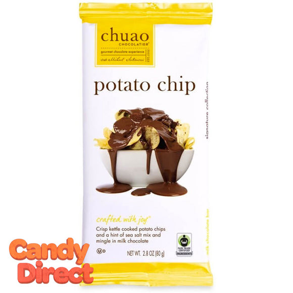 Potato Chip Chuao Milk Chocolate Bars - 12ct