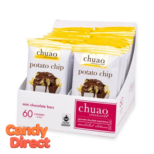Potato Chip Chuao Milk Chocolate Mini Bars - 24ct