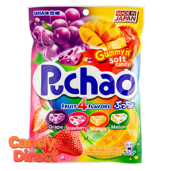 Puchao Mixed Fruit Candy 3.53oz Peg Bag - 6ct
