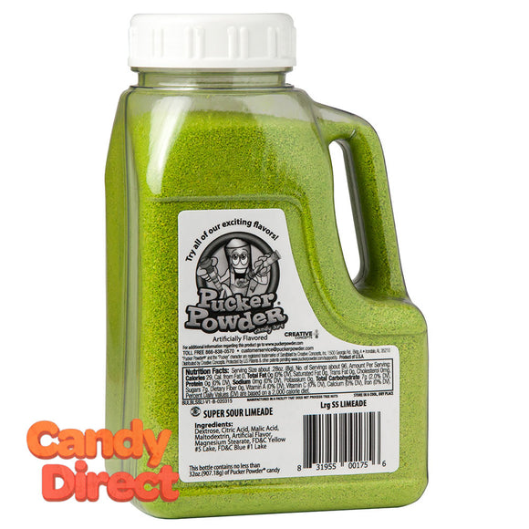 Pucker Powder Super Sour Green Limeade 32oz Bottle - 1ct