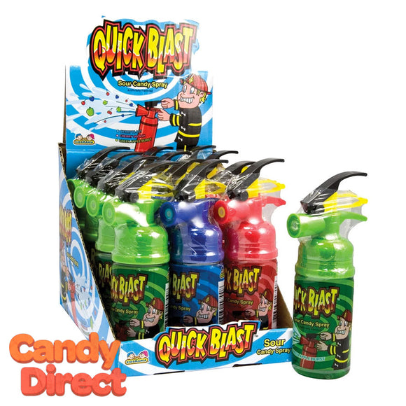 Quick Blast Spray Sour Candy - 12ct