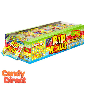 Rainbow Reaction Rip Rolls Candy - 24ct