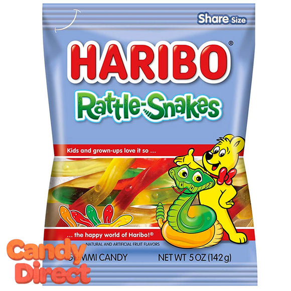 Rattle Snakes Haribo Gummi Candy 5oz Bag - 12ct
