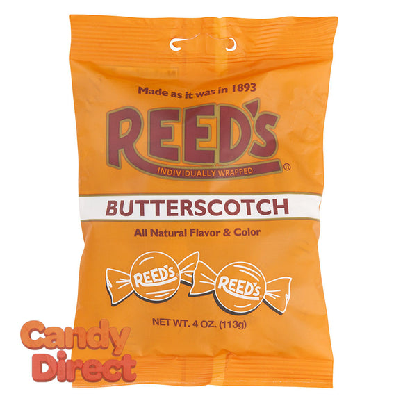 Reed's Butterscotch Candy 4oz Peg Bag - 12ct