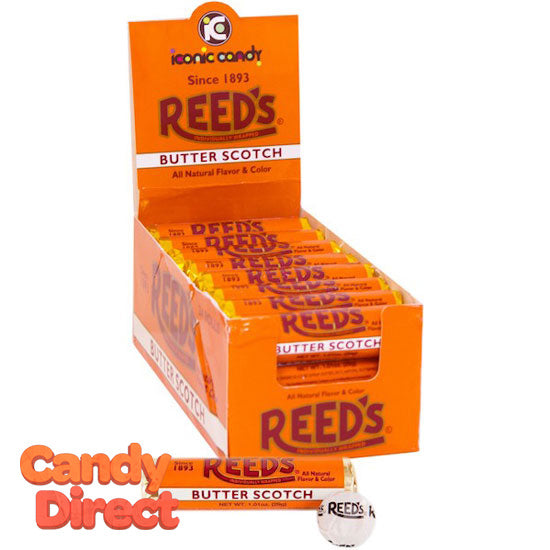 Reed's Butterscotch Rolls Candy - 24ct