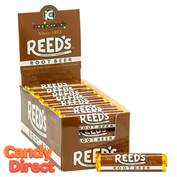 Reed's Root Beer Candy Rolls - 24ct