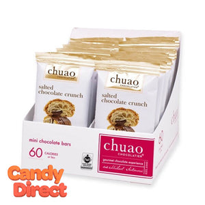 Salted Chocolate Crunch Chuao Mini Chocolate Bars - 24ct