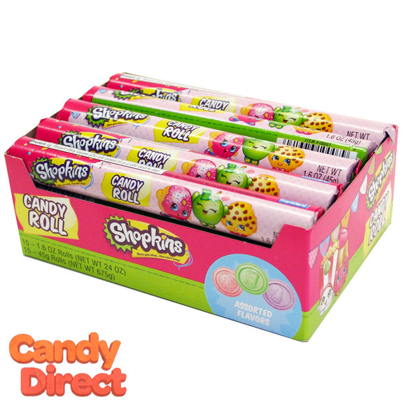 Shopkins Candy Rolls - 15ct