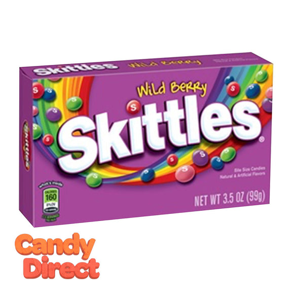 Skittles Wild Berry Theater Box 3.5oz - 12ct