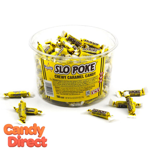 Slo Poke Candy Bite-Size - 160ct Tub