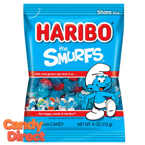 Smurfs Haribo Gummi Candy 5oz Bag - 12ct