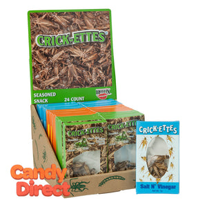 Snack Assorted Crick-Ettes Real Crickets Seasoned - 24ct