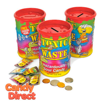 Sour Candy Tie Dye Banks Toxic Waste - 12ct
