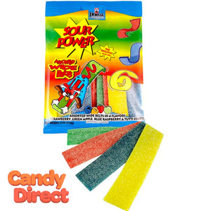 Sour Power Wide Belts Assorted - 12ct