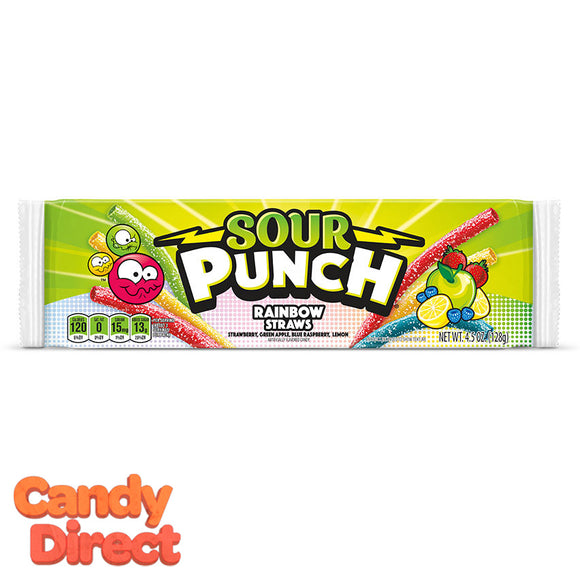 Sour Punch Rainbow Straws 4.5-ounce - 24ct