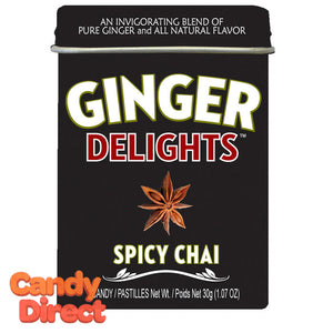 Spicy Chai Ginger Delights - 12ct Tins