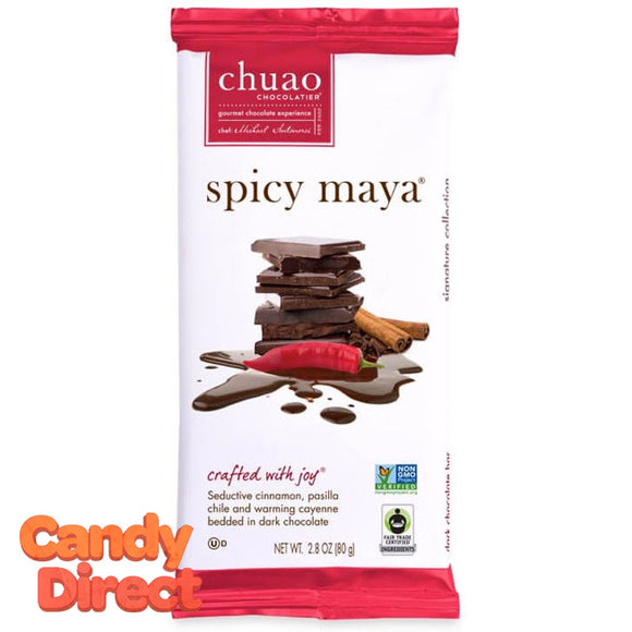 Spicy Maya Chuao Dark Chocolate Bars - 12ct