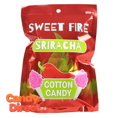 Sriracha Sweet Fire Cotton Candy Bags - 12ct